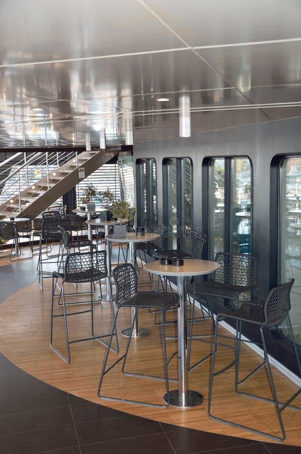 Wewnętrzny projekt kawiarnia bar fotografia royalty free