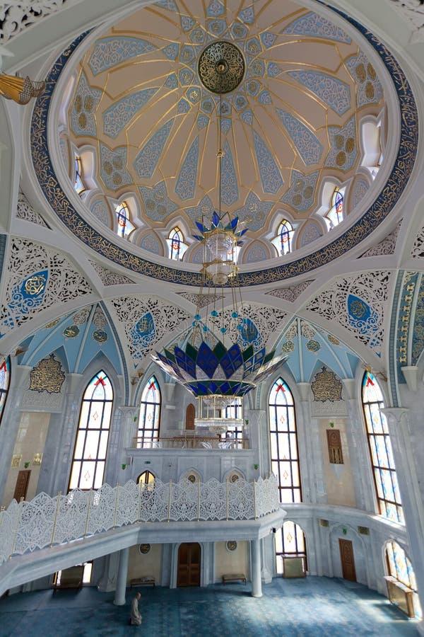 Wewnętrzny Qol Sharif meczet w Kazan zdjęcie royalty free