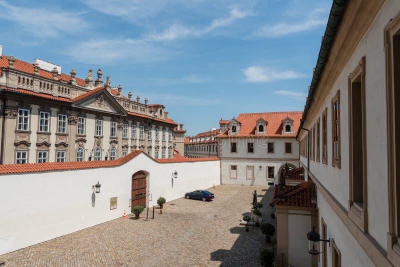 Wewnętrzny sąd Wallenstein pałac w Praga zdjęcia royalty free