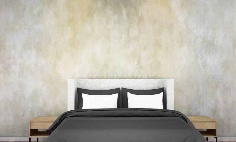 Wewnętrzny sypialnia projekta ściany i pomysłu tekstury tło royalty ilustracja