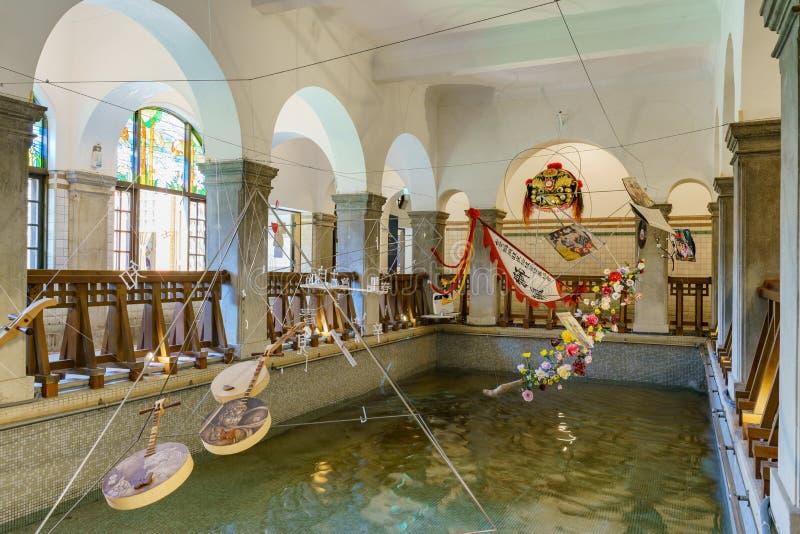 Wewnętrzny widok Beitou Gorącej wiosny muzeum fotografia stock
