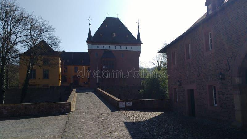 Wewnętrzny widok Burgau kasztel, DÃ ¼ ren, Niemcy zdjęcie royalty free