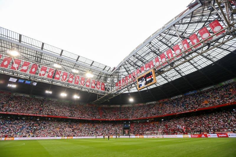 Wewnętrzny widok folował Amsterdam areny stadium obrazy royalty free