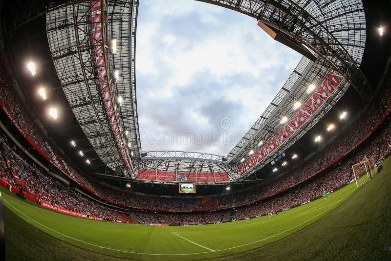 Wewnętrzny widok folował Amsterdam areny stadium zdjęcie royalty free