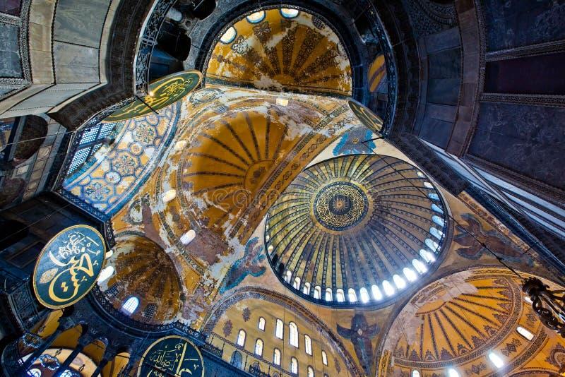 Wewnętrzny widok Hagia Sophia zdjęcie stock
