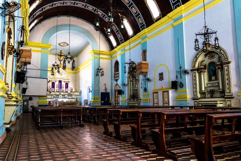 Wewnętrzny widok kościół zdjęcia stock