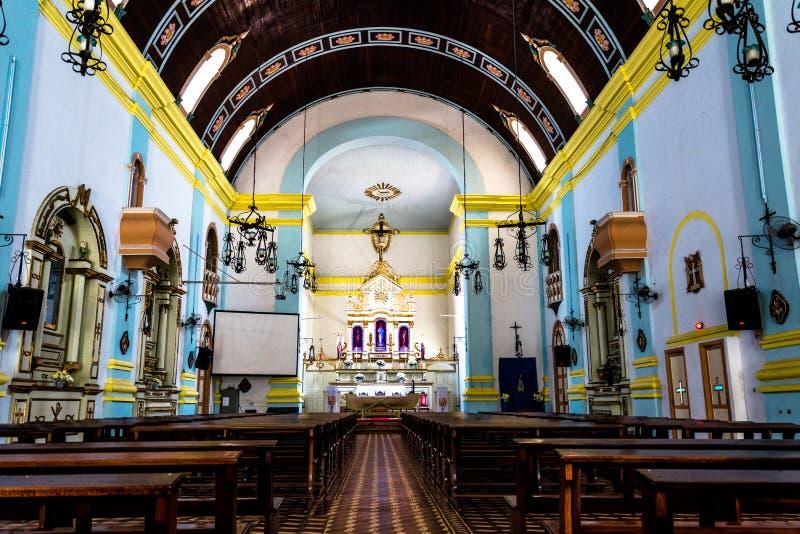 Wewnętrzny widok kościół fotografia stock