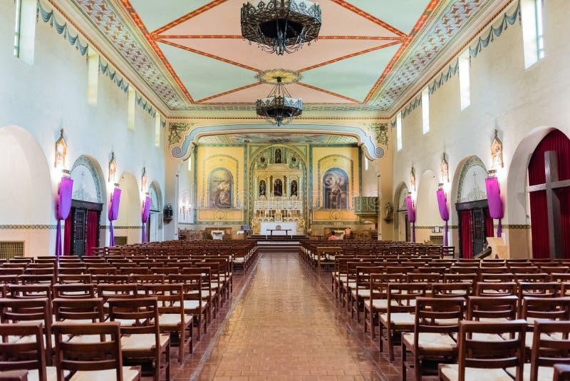 Wewnętrzny widok misja Santa Clara De asÃs obraz royalty free