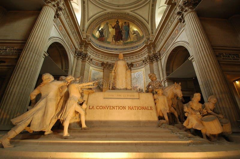 Wewnętrzny widok panteon w Paryż obraz stock