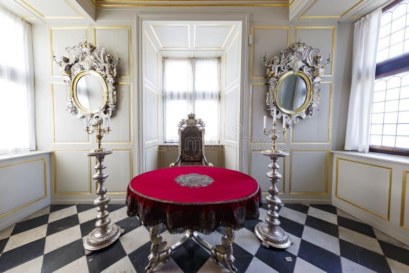 Wewnętrzny widok sławna Rosenborg szczelina obrazy stock