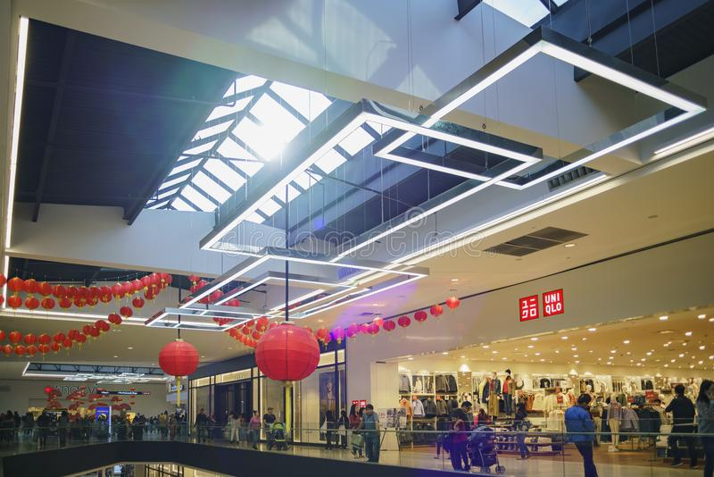 Wewnętrzny widok Snata Anita centrum handlowe obraz royalty free