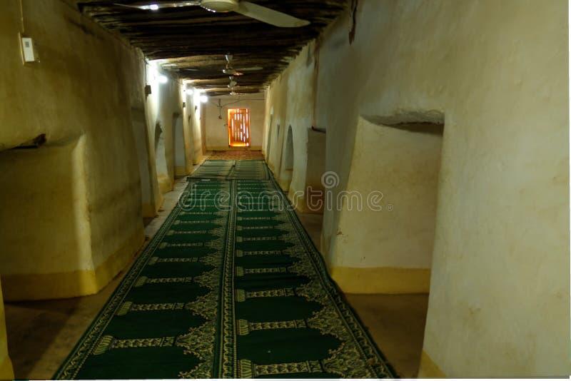 Wewnętrzny widok Uroczysty meczet Agadez, Niger fotografia stock