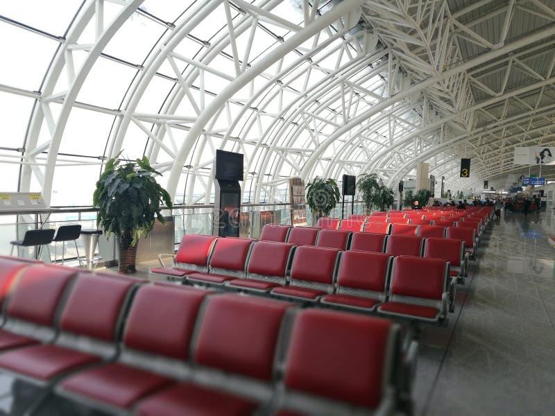 Wewnętrzny widok z dodatkiem specjalnym wyszczególnia kąt w Longjia lotnisku zdjęcie royalty free