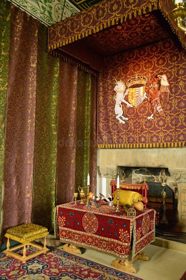 Wewnętrzny wielkiej hali Stirling kasztel obraz royalty free
