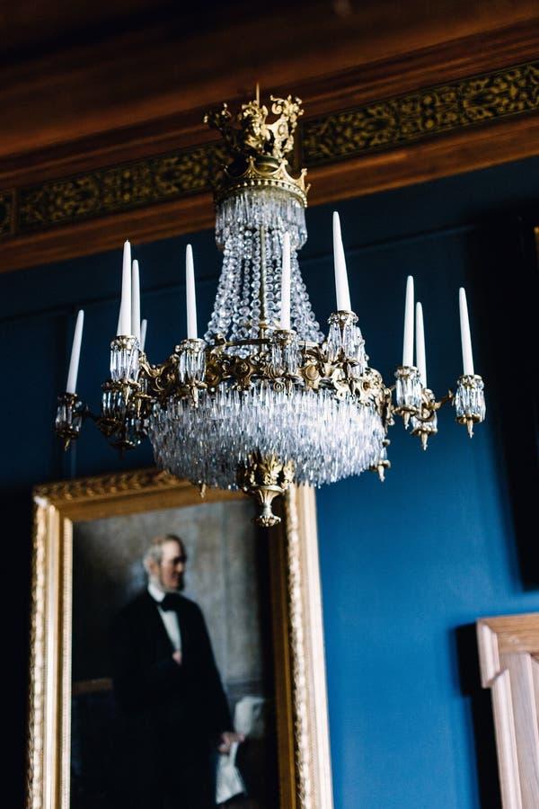 Wewn?trzni szczeg??y Frederiksborg Roszuj? w Hillerod, Dani obraz royalty free