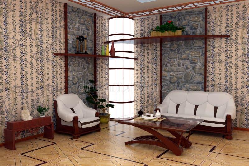 Download Wewnętrzny pokój ilustracji. Ilustracja złożonej z dekoruje - 13326851