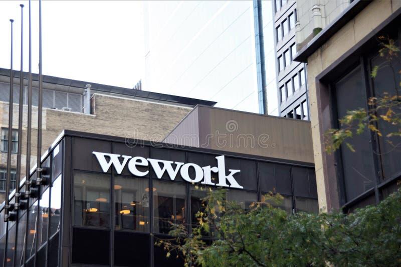 WeWork-Arbeitsplatz-Teilen lizenzfreies stockbild
