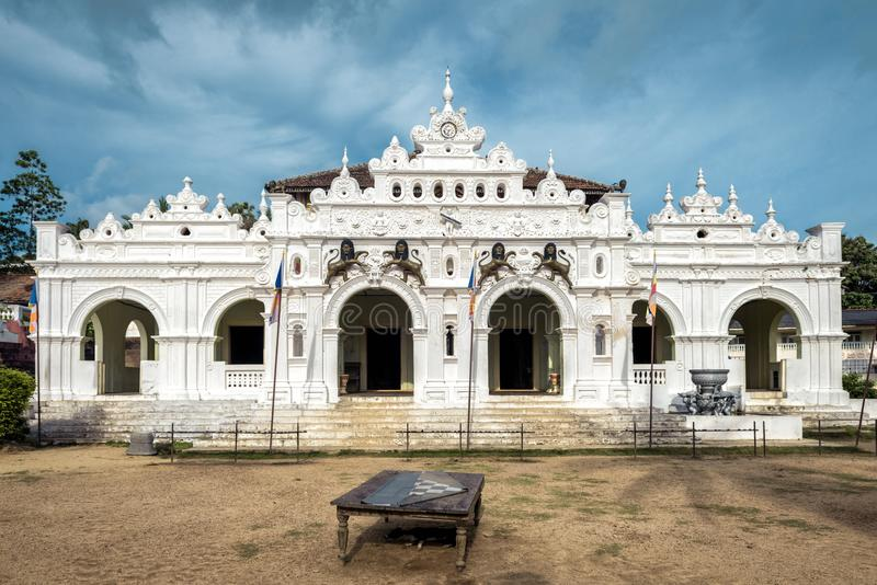 Wewurukannala Vihara temple in the town of Dickwella, Sri Lanka. This is the old Buddhist center and tourist attraction. Beautiful view of historical and stock image