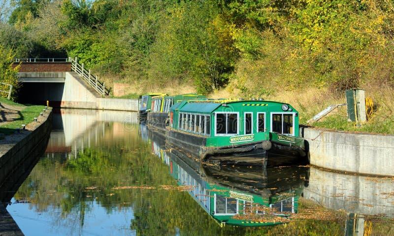 Wey & βάρκες καναλιών Arun Loxwood, Surrey, UK στοκ φωτογραφία με δικαίωμα ελεύθερης χρήσης