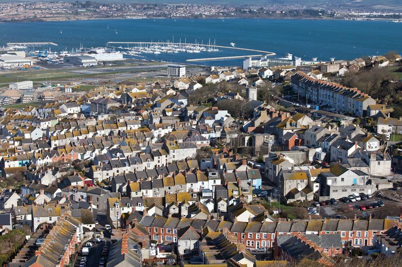 Weymouth Bay in Dorset England royalty free stock images