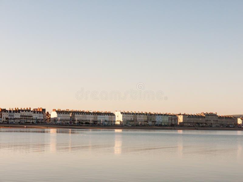 weymouth dorset sea coast sky blue beach sunset nature landscape royalty free stock photography