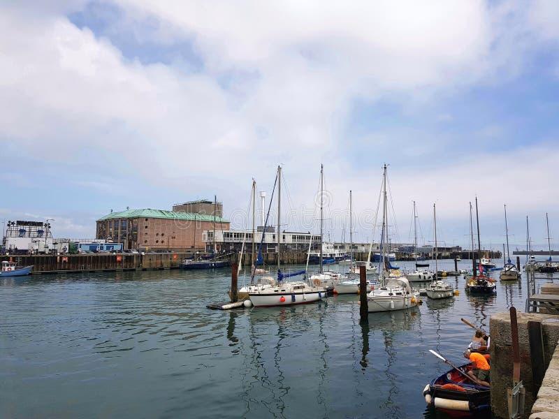 Weymouth-Hafen lizenzfreie stockbilder