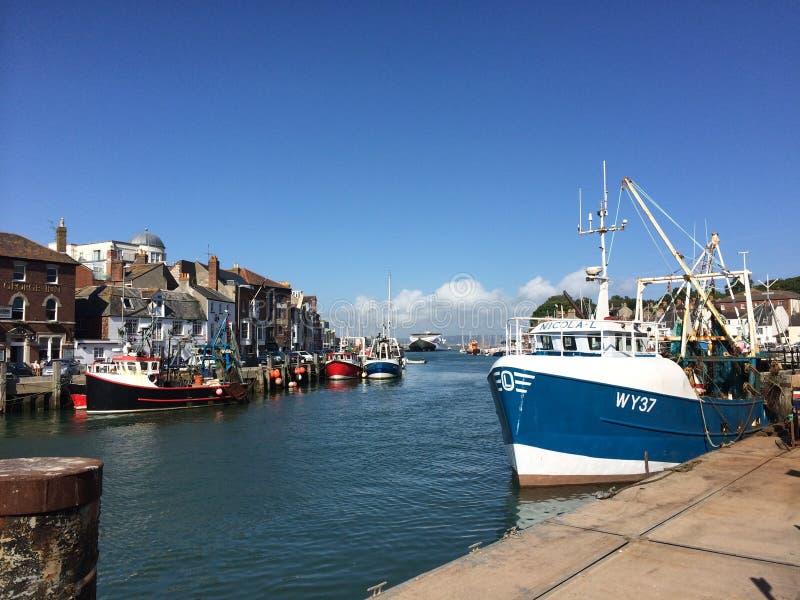 Weymouth hamn arkivfoto