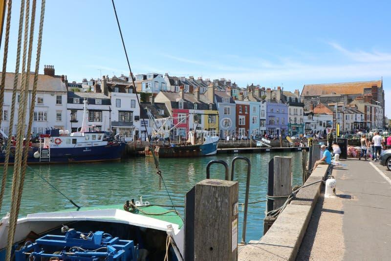 Weymouth hamn Dorset Förenade kungariket royaltyfri fotografi