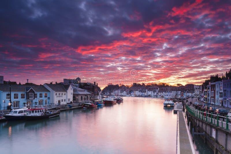 Weymouth hamn royaltyfri foto