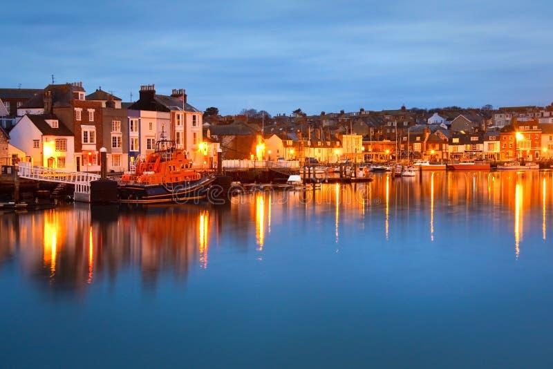 Weymouth hamn i Dorset. arkivbild