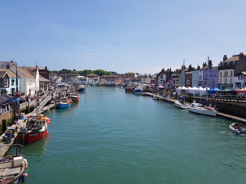 Weymouth hamn royaltyfria foton