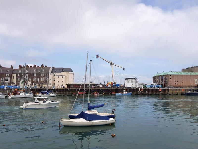 Weymouth harbour royalty free stock photography