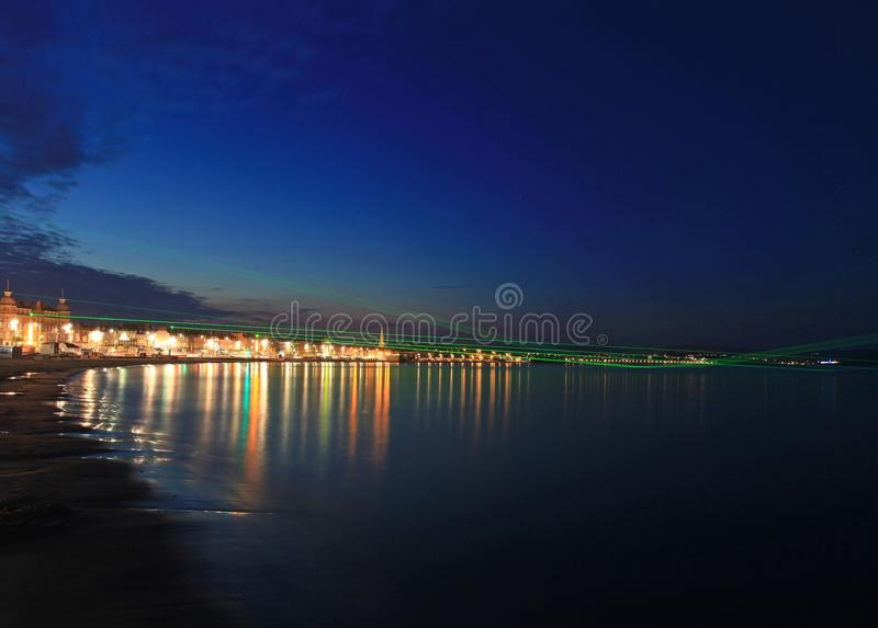 Weymouth Lazers over seafront in dorset royalty free stock photo