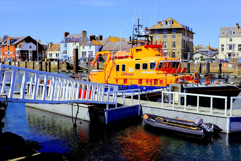 Weymouth lifeboat, Dorset, UK zdjęcia royalty free