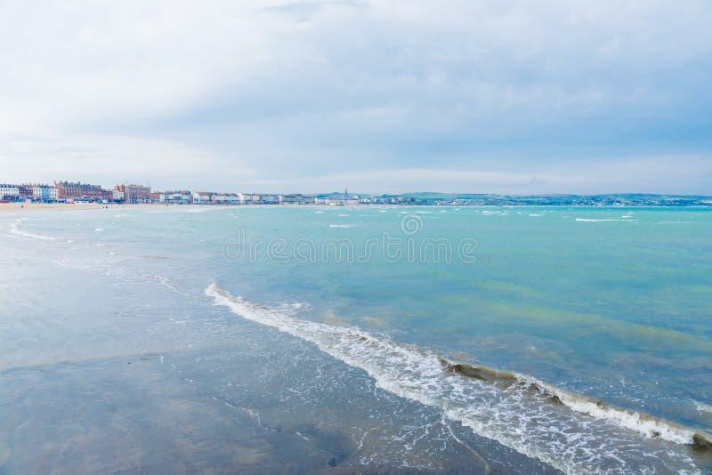 Weymouth pretty British ocean coast royalty free stock photography