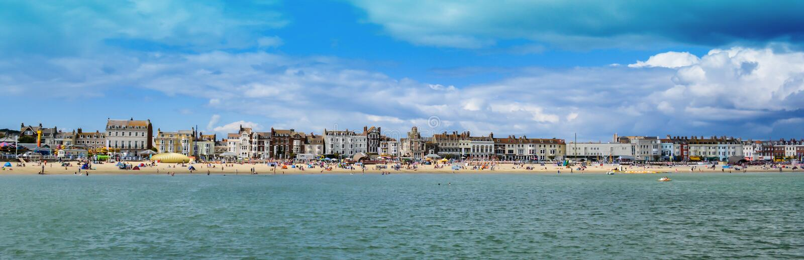 Weymouth Seafront. The famous British sea side at Weymouth, Dorset stock images