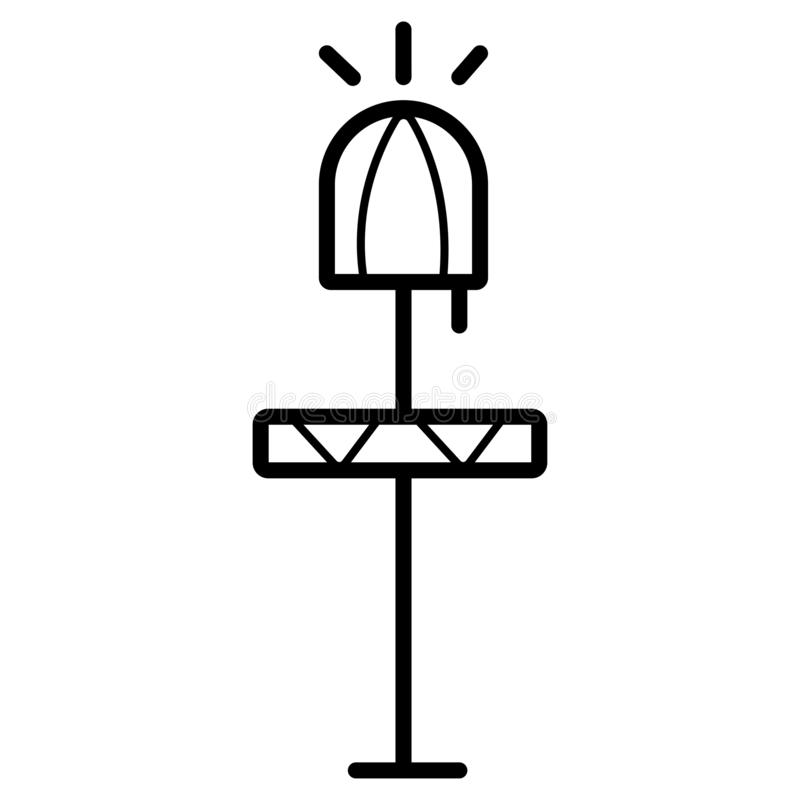 Wezgłowie stołu ikona ilustracja wektor