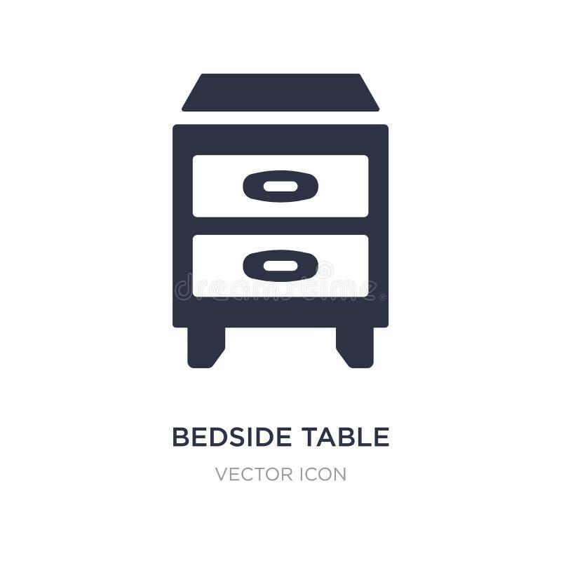 wezgłowie stołu ikona na białym tle Prosta element ilustracja od Meblarskiego pojęcia ilustracji
