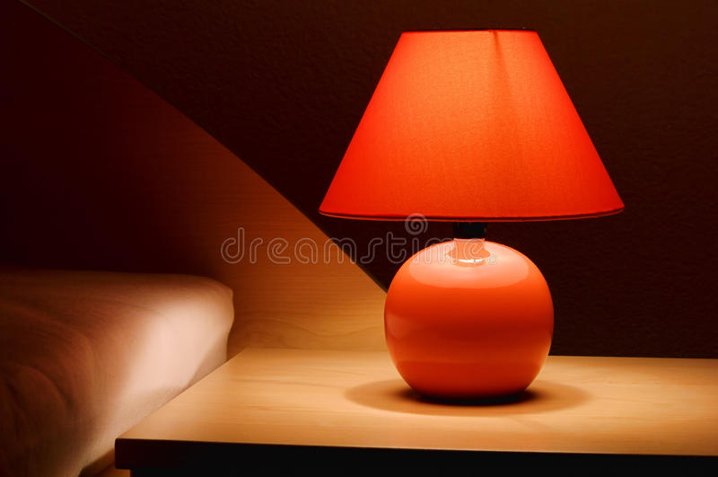 wezgłowie lampa zdjęcie stock