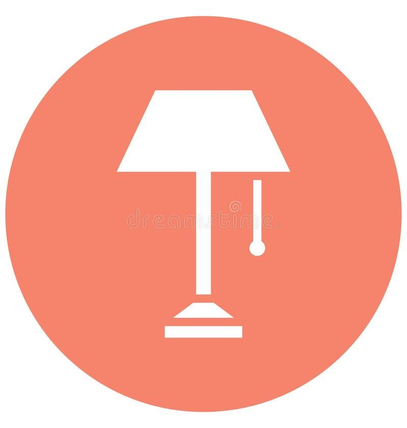 Wezgłowie lampa Odizolowywał Wektorową ikonę która może łatwo redagować lub modyfikować ilustracja wektor