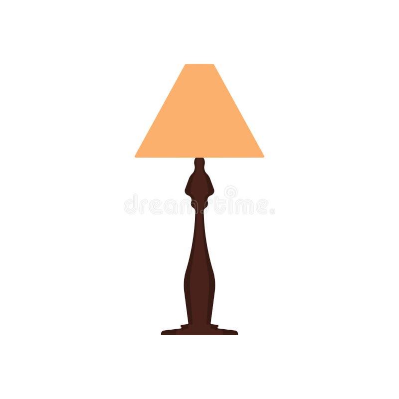 Wezgłowie lampy ikony meble wektorowy stół Domowy wnętrza światła sypialni wystrój Płaskiego nocy wyposażenia władzy jaskrawy zna royalty ilustracja