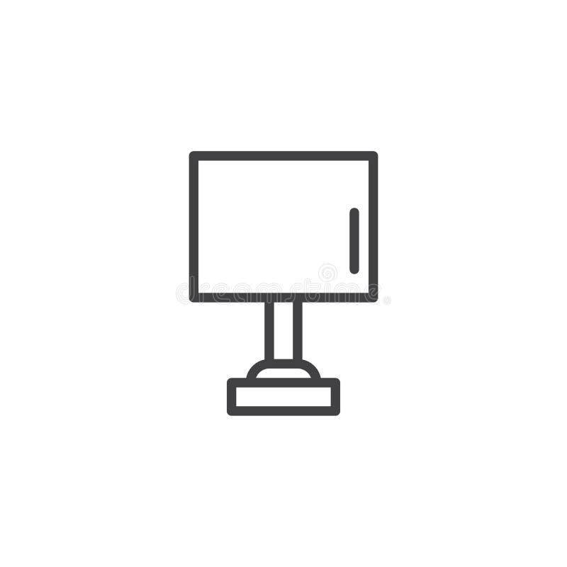 Wezgłowie lampy konturu ikona royalty ilustracja