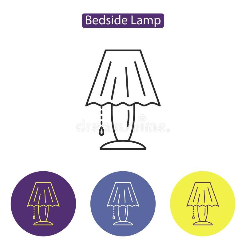 Wezgłowie lampy linii ikona ilustracji