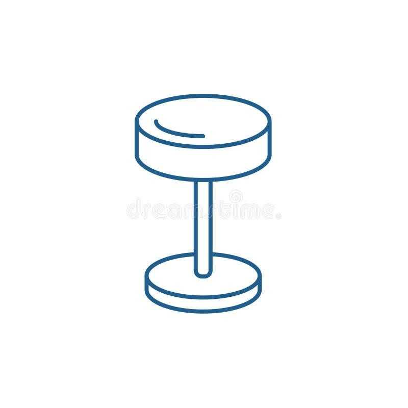 Wezgłowie lampy linii ikony pojęcie Wezgłowie lampy płaski wektorowy symbol, znak, kontur ilustracja ilustracji