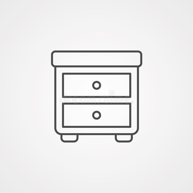 Wezgłowie stołu ikona ilustracji