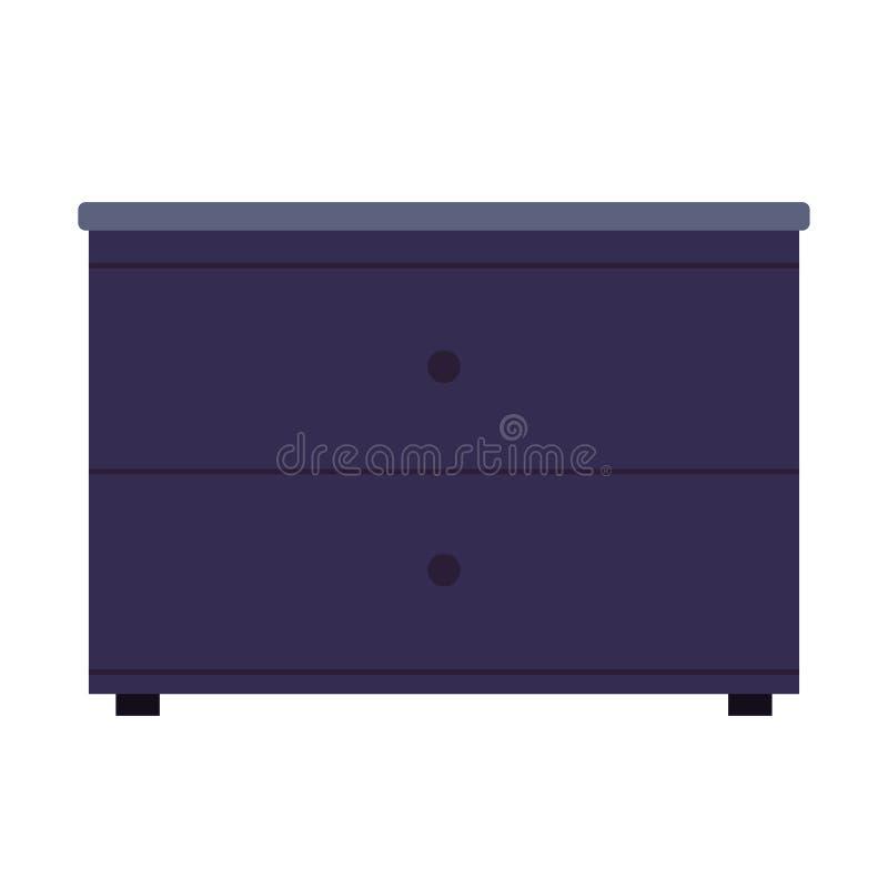 Wezgłowie stołu symbolu wygodnego bedroon elegancka wektorowa ikona Salowy wnętrza pudełka meble nightstand Płaski kreślarza gabi ilustracji