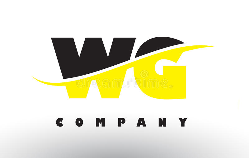 Delicieux Download WG W G Black And Yellow Letter Logo With Swoosh. Stock Vector    Illustration Of