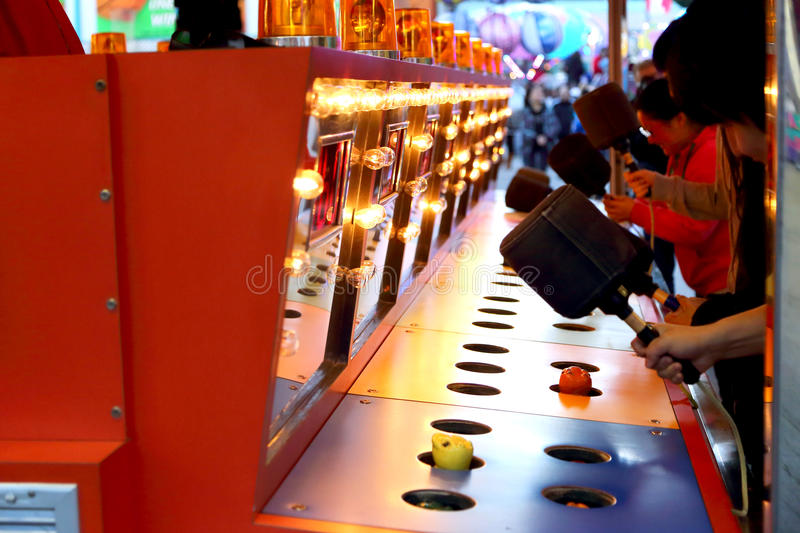 Download A Whacking Game At Carnival Editorial Stock Photo - Image: 54012933