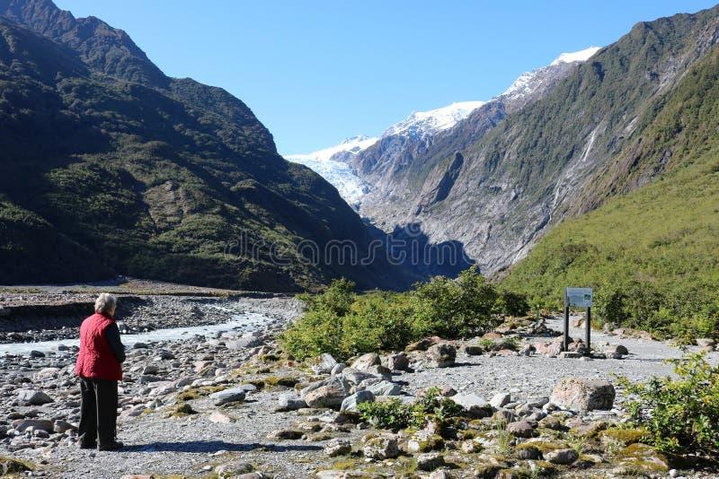 Whaio-Fluss und Franz Josef Glacier, Neuseeland lizenzfreie stockbilder