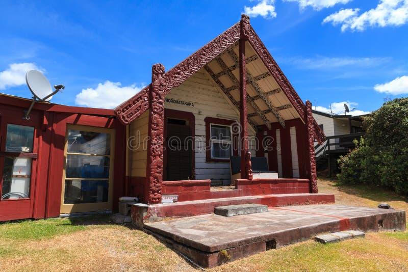 Whakarewarewa Maoryjska wioska, Rotorua Stary i nowy obraz stock
